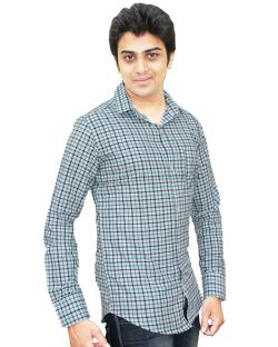 Yepvi White And Green Checked Shirt
