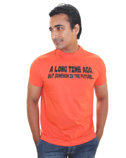 Canopus Men Orange Printed T-Shirt