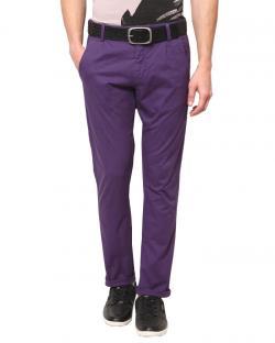 Yepvi Purple Trouser For Men